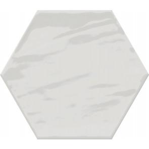 Monochrome Hexagon White Brillo